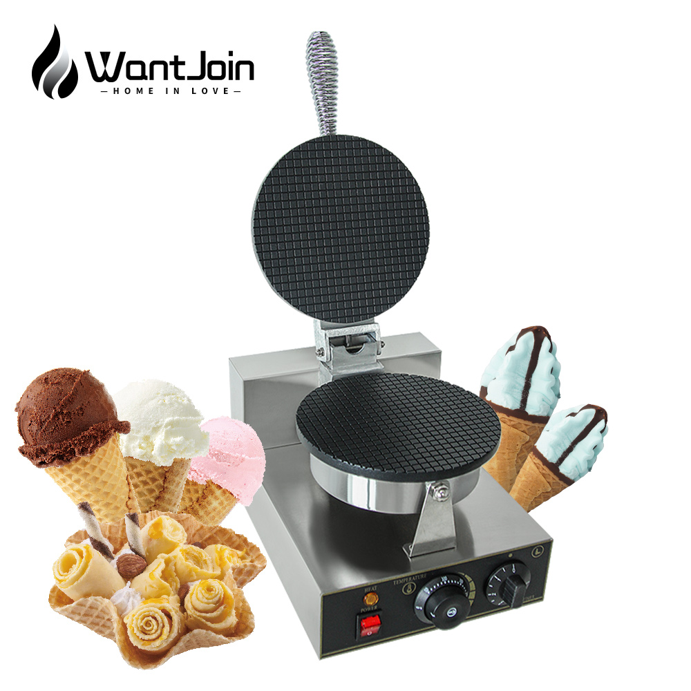 Commercial ice cream cone machine egg winder electric waffle machine Electric not stick Waffle Maker Full automatic Doughnut Egg|Waffle Makers| |  - title=