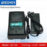 SKOWER 14.8V 198Wh(13400mAh) BP 190 V Mount V Lock V Shape V Mount Rechargeable Li ion Battery With USB Port + D Tap Charger