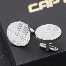 Fashion retro punk striped round cufflinks mens French shirt sleeve nails hot new accessories factory direct