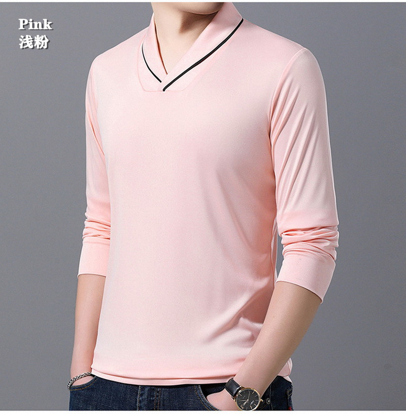 High-end men's V-neck sweater British style Soft Breathable Comfortable Crease proof Colorfast Anti-Pilling Keep-warm Cotton85%