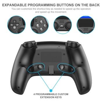 Mando inalámbrico de 6 ejes con doble vibración para PS4, PS5,  3