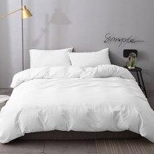 High-end branco capa de edredão conjunto rainha rei gêmeo com 100% algodão lavado