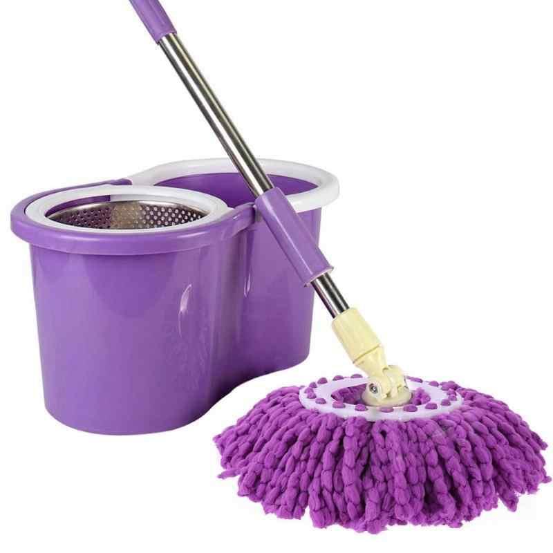 Grad Lila Mikrofaser Mop Kopf Ersatz Rotierenden Mop Kopf Küche Bad Oberfläche Reinigung Spinning Boden Sauber Werkzeug