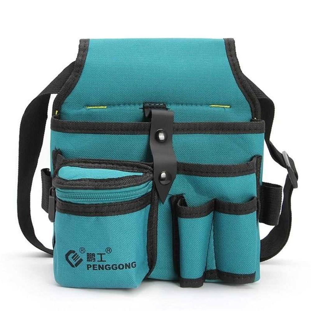 Canvas Hardware Oxford Kit Electrician Kit Thicken Multifunction Waist Bag Waist Hanging Type Tool Bag