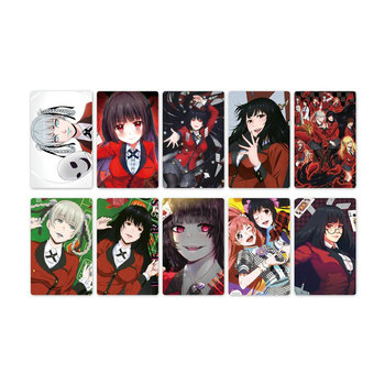 10pcs Anime Kakegurui Card Stickers Waterproof Scrub Sticker Kids Toys for Collection Gift