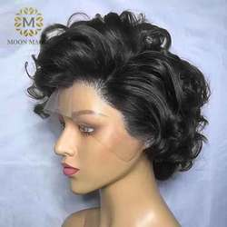 Челка парик человеческие волосы 150% плотность 360 Кружева Фронтальные человеческие волосы парики с детскими волосами кружевные передние пар...