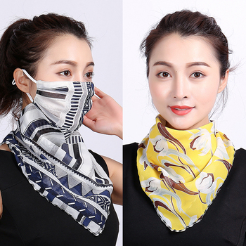 Silk Face Mask Neck Scarf Sun Protection Covers Protector Masks Shawl Bandana Head Wraps for Women Fashion Headband New - discount item  30% OFF Scarves & Wraps