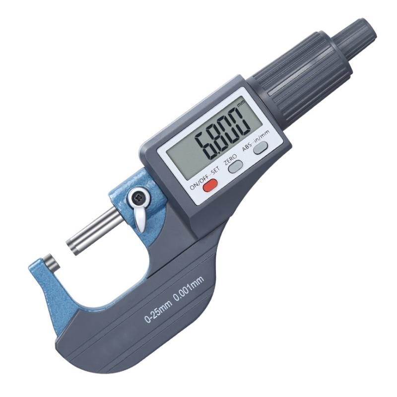 Спиральный Высокоточный цифровой внешний микрометр 0-25 мм Точность 0,001 мм электронный ЖК-дисплей In/mm микрометр измерительный инструмент