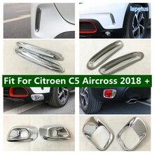Lapetus ön arka sis farları lamba çerçeve otomatik Trim araba Styling ABS dış tamir kiti Citroen C5 Aircross 2018   2021