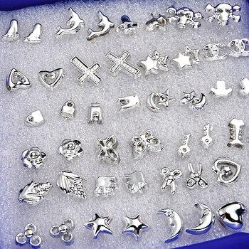 2020 NEW 24 Pair/ Set Wholesale Fashion Unisex Mix Styles Stud Earrings Women Men Metal  Plated Stud Earrings Jewelry