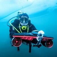 Propulsor subacuático de 2020, potenciador de buceo, patinete submarino, interruptor de tres velocidades, Dron de disparo, equipo de buceo
