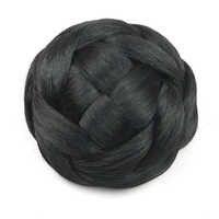 Soowee 6 couleurs cheveux synthétiques tressés Chignon tricoté cheveux blonds Chignon beignet rouleau postiches accessoires pour femmes