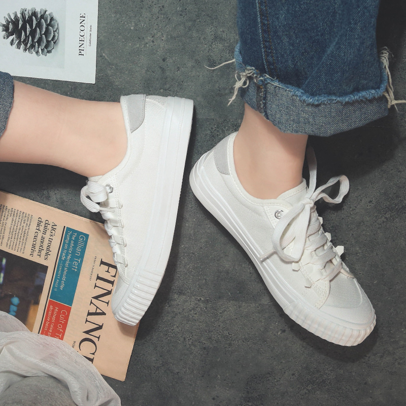 INS Board Shoes Spring New Style 1992 Hong Kong Flavor Shoes Students Korean-style Flat Canvas Shoes Street Snap Retro Small Whi