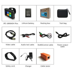 """Image 5 - IPC1800 plus 4"""" IP Camera Tester monitor CCTV TVI CVBS Analog Video Test PTZ Control Touch Screen H.265 4K 8MP 1080P with WIFI"""