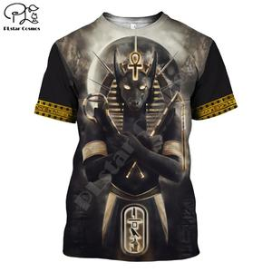 PLstar CosmosHorus Ancient Horus Egyptian God Eye of Egypt Pharaoh Anubis face 3dPrint T-shirt Men/Women Unisex Streetwear S-2(China)