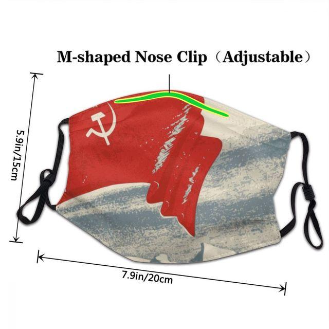 Флаг СССР многоразовая маска Советская Россия Коммунистическая Социалистическая защита от пыли Защитная крышка респиратор для взрослых Муфель 3