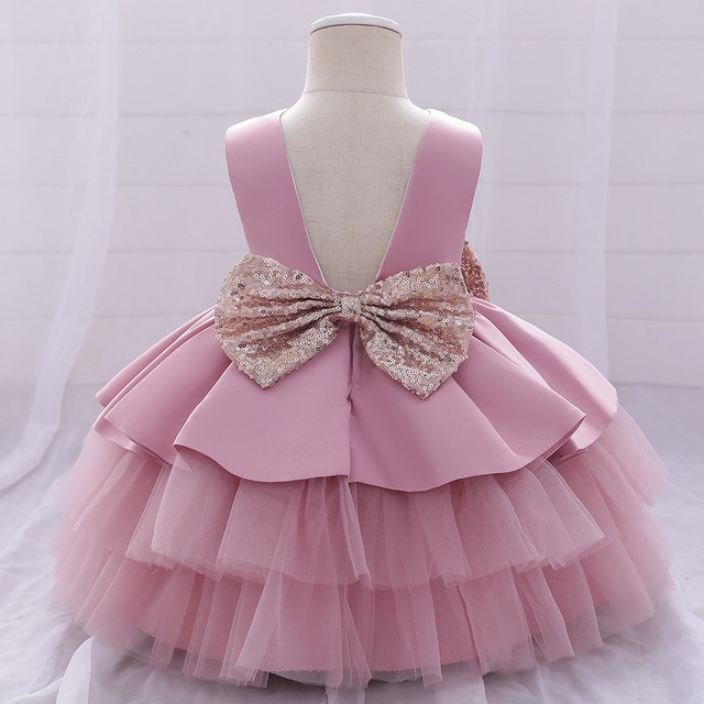 Ma & Baby 0-4Y księżniczka Todder noworodka dziecko dziewczynka Tutu cekiny do sukienki łuk urodziny na ślub chrzest sukienki kostiumy