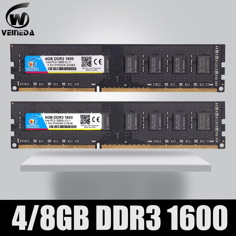 Dimm Ram DDR3 2 gb/4 gb/8 gb 1600 PC3-12800 mémoire Ram pour tous les ordinateurs de bureau Intel et AMD Compatible ddr 3 1333 Ram