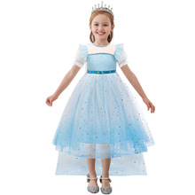Summer 2 Elsa Dress Girls Princess Dress Easter Kids Dresses for Girls Costume Anna Carnival Cosplay Party Children Clothing princess peach super mario bros costume classic game mario costume kids girls carnival cosplay party dress
