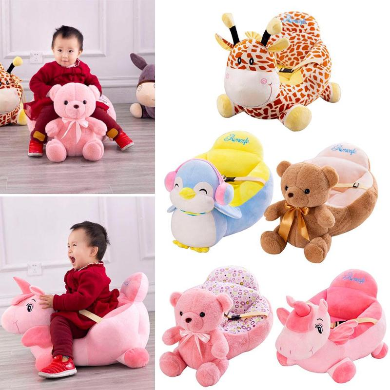 Baby Sofa Cover Learn To Sit Toddler Nest Feeding Chair Washable Baby Sofa Skin For Infant Kid Cover Soft Seat Case No Cotton