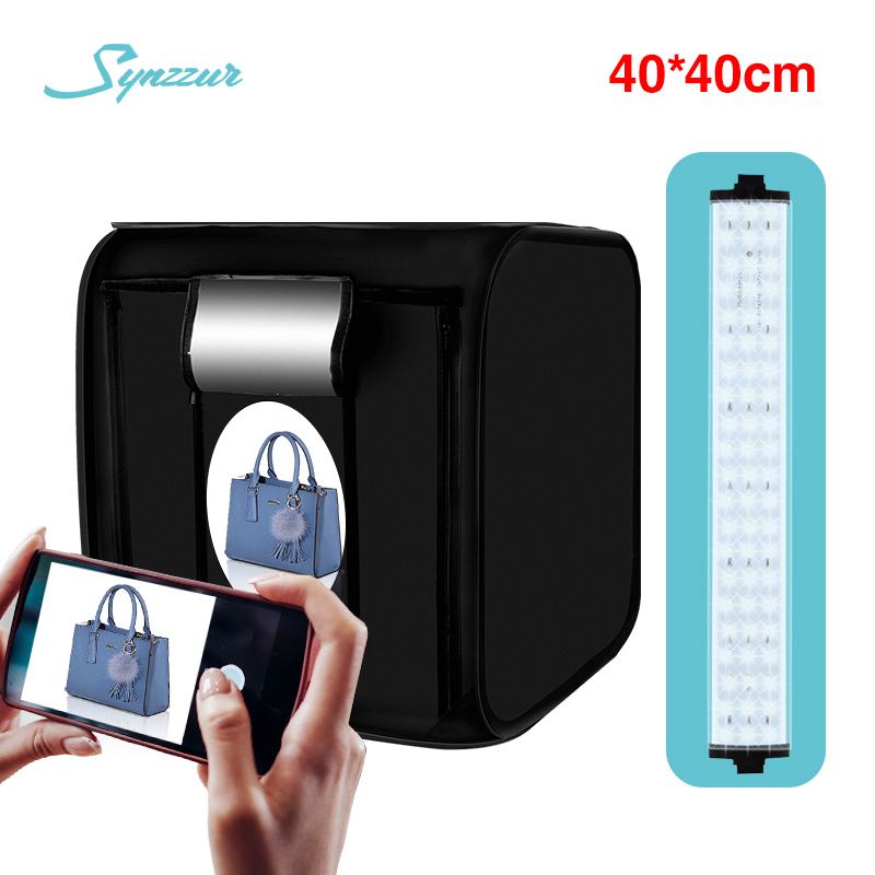 Light Tent 40CM Led Photo Box 16in Folding Mini Photo Studio With 4 Backgrounds Desktop Photography Lightbox For Photos Shooting