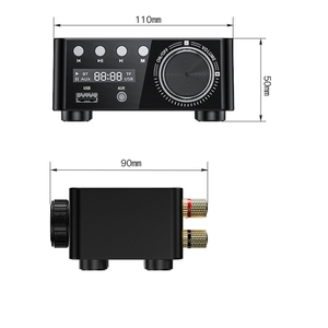 Image 4 - HIFI Bluetooth 5.0 Digital Power Audio Amplifier board 50WX2 Stereo AMP Amplificador Home Theater USB TF Card Player