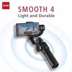 Image 1 - ZHIYUN Smooth 4 公式スムーズ 4 電話ジンバル 3 軸ハンドヘルド安定剤スマートフォンiphone/huawei/サムスン/アクションカメラジンバル