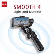 ZHIYUN Smooth 4 officiel lisse 4 cardans de téléphone 3 axes stabilisateurs de poche pour Smartphone iPhone/HUAWEI/Samsung/caméra daction cardan