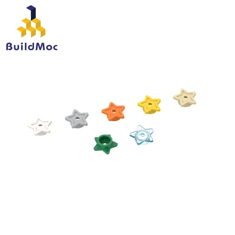 Buildmoc tijolos 11609 estrela de cinco pontas para blocos de construção peças diy construção presente de natal brinquedo