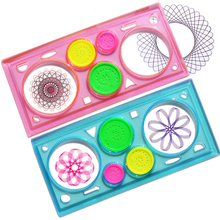 1 Set/Drawing Multifunction Puzzle Geometry Ruler Drawing Student Tool Develop IQ High Child Painting Teaching Art Tool Books