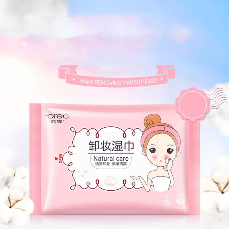 25Pcs/Pack Makeup Remover Wet Wipes Tissue Draw-Out Face Eye Deep Cleansing Cotton Pads Moisturizing Towels Cosmetic Tool Skin Care