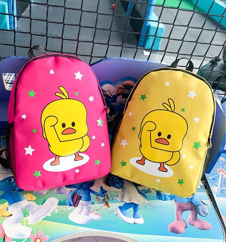 2019 Cartoon Cute Kindergarten Schoolbag Small Yellow Duck Printed Handbag Men And Women Children School Bag