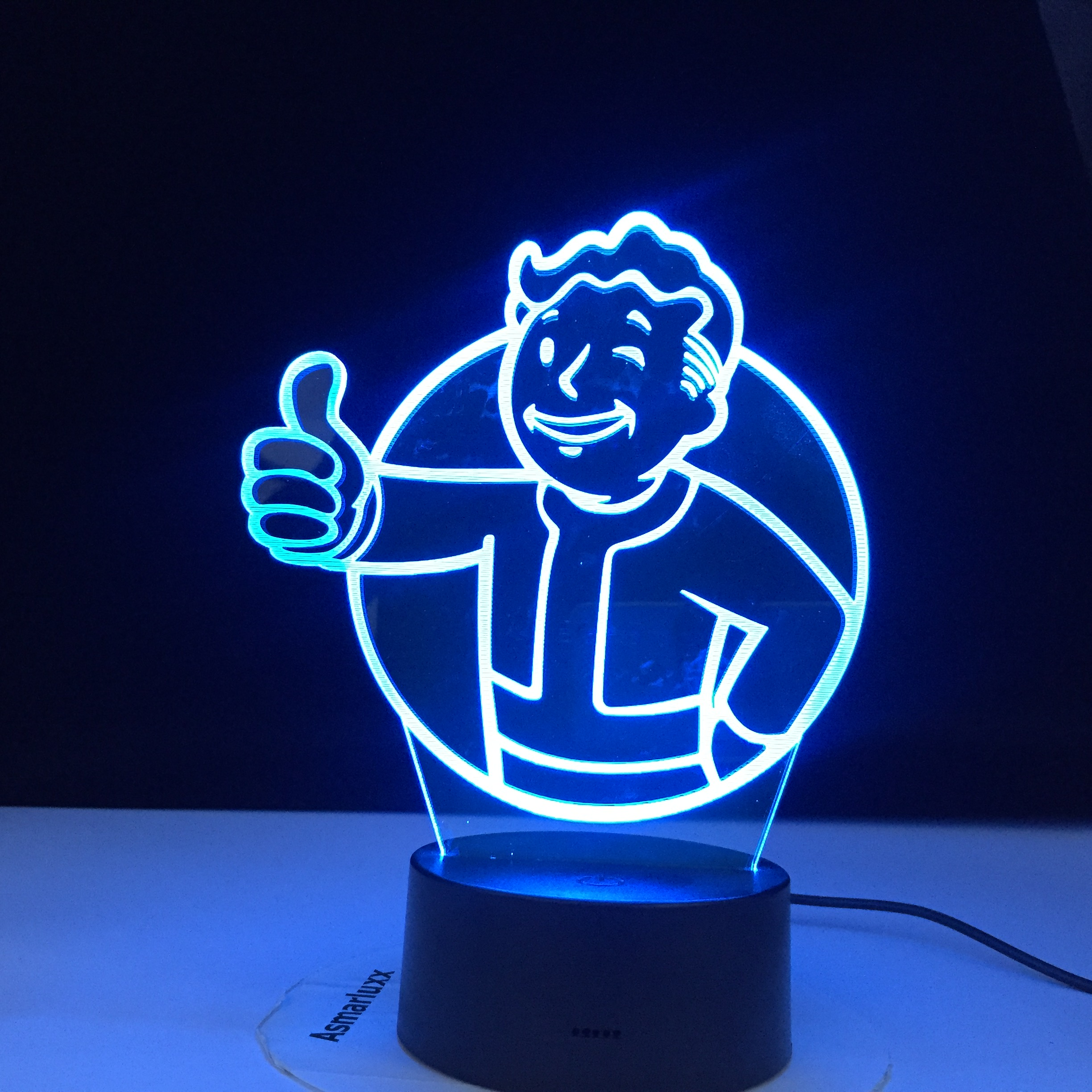 Game Fallout Shelter Logo 3D Led Night Light For Kids Child Bedroom Decoration Cool Event Nightlight Colorful Usb Table Lamp