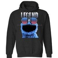 Sesame Street Cookie Legend navy Cartoon Unisex Mens Womens Winter Hoodies Sweatshirts Free Shipping