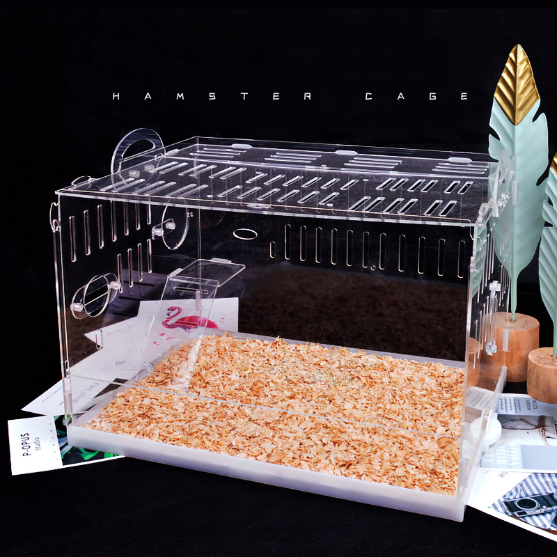 Hamster House Acrylic Transparent Oversized Villa Guinea Pig Double Nest Pet Accessories