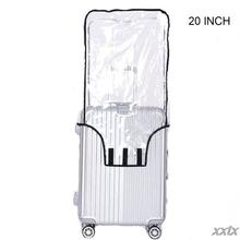 Przezroczysty PVC pokrowiec na walizkę toczenia pokrowiec na bagaż Protector do przenoszenia na bagaż 20 cal 22 cal 24 cal 26 cal 28 cal 30 cal tanie tanio THINKTHENDO CN (pochodzenie) 0inch LP086 200g Klapy Bagażnika Stałe