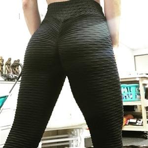Image 5 - Vrouwen Push Up Leggings Sexy Hoge Taille Elastische Gebreide Spandex Leggings Femme Fitness Workout Jeggings Legging Vrouwen Broek
