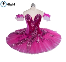 Peach Fairy professional ballet tutu red adult Performance Tutu pancake costumes nutracker redBT9040