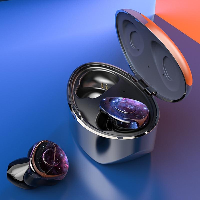 TWS S1 Bluetooth Earphones 5.0 True Wireless Earbuds Gradient Color Fone De Ouvido Noise Reduction Headset IPX5 Waterproof