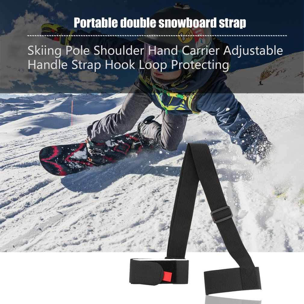 Nylonowe torby narciarskie regulowany wieszak na narty uchwyt na ramię Lash uchwyt pasy Porter Hook Loop ochrona na narty Snowboard