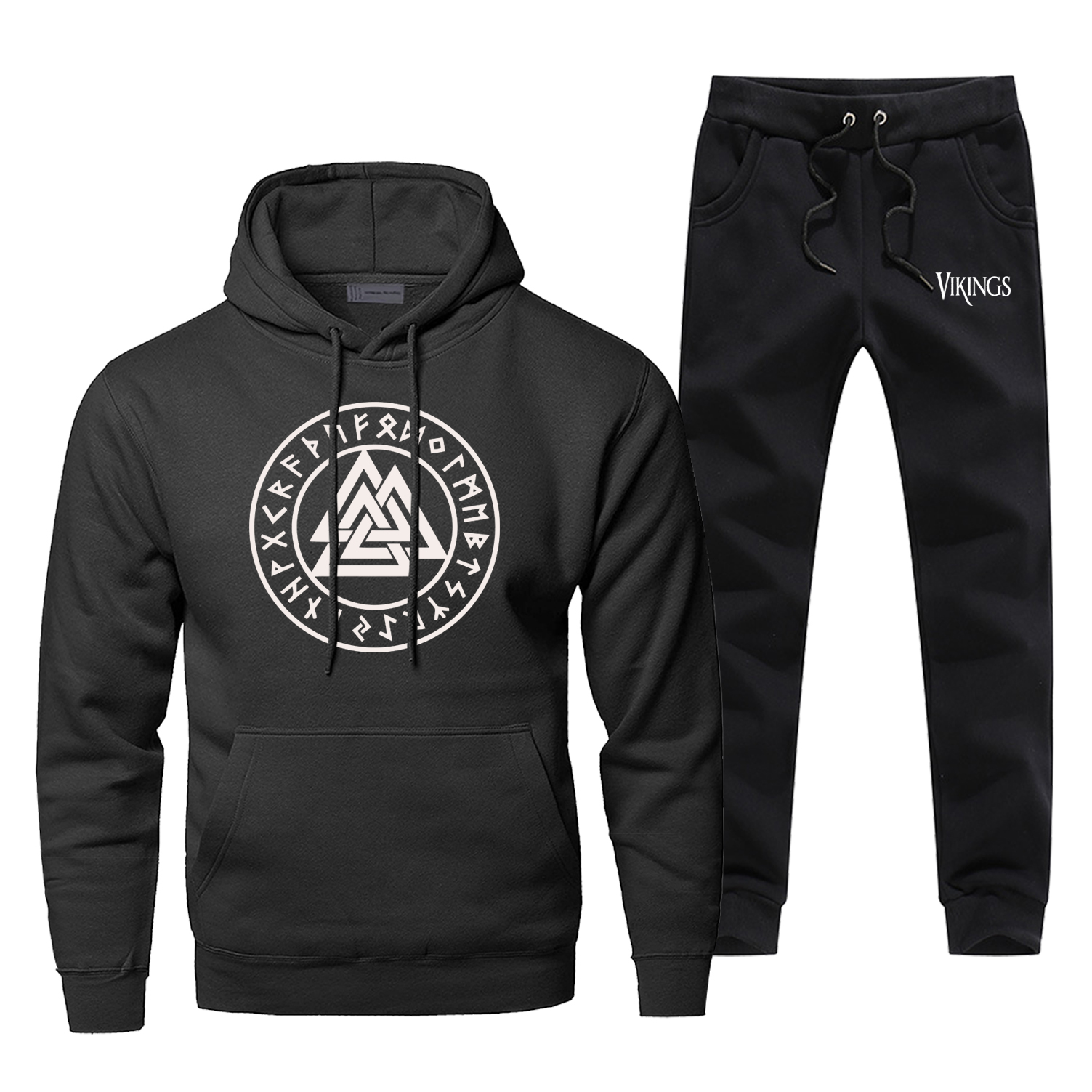 Vikings Symbols Mens Hoodies Sets Two Piece Pant Odin Viking Hoodie Sweatshirt Sweatpants Streetwear Sons   Sweatshirts