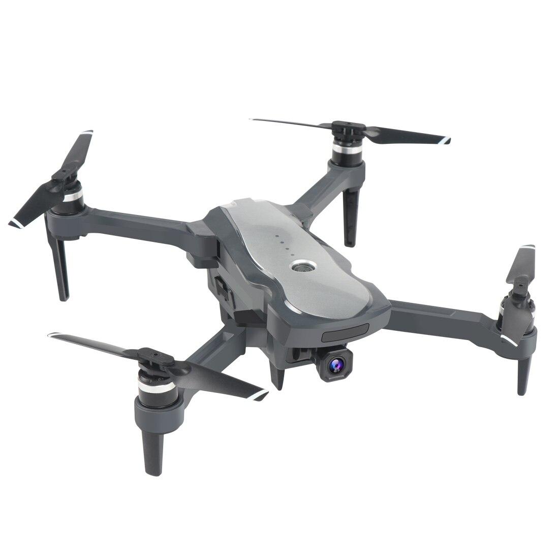 Wifi FPV 4K GPS Drone K20 5G HD Dual Camera ESC Brushless Motor Professional Foldable RC Quadcopter 25 Mins Flight Toys VS SG907 (Grey 4K 1B Bag)