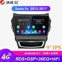 9 2 Din IPS Android 2G+32G Car Radio for Hyundai Santa Fe 3 2013 2017 RDS DSP Auto Audio Navigation GPS Navi Head Unit + Frame