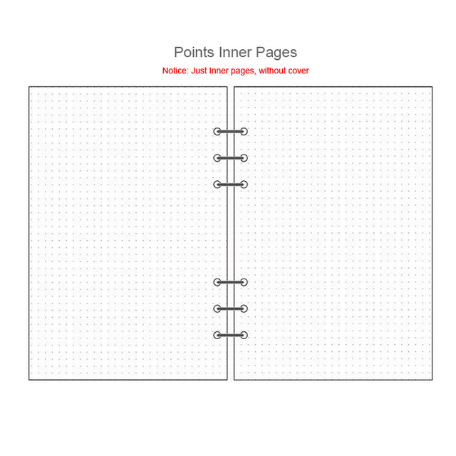Notebook laser A5 A6 perancang penganjur buku pengikat buku sketsa - Pad nota dan buku nota - Foto 6