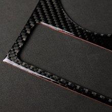 Автомобильный Стайлинг карбоновый подстаканник декоративная рамка наклейка крышка Наклейка Обложка для Audi A5 A4 B8 2009