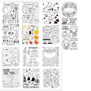 Die Stamps Scrapbooking Die-Cut Clear-Stamp Christmas Album-Sheets