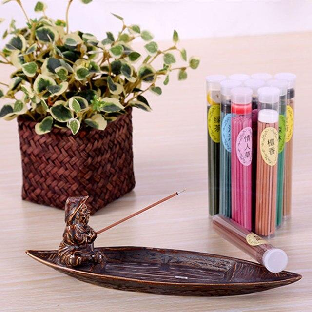 Incense burner 50sticks lavender natural aroma clean air indoor sandalwood rose tower incense burners air freshener aromatherapy 4