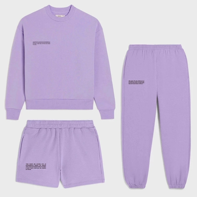 [LIVIVIO] Spring Fashion Outfits for Women Tracksuit Sweatshirt Sweatpants and Shorts Casual Sports Sweatsuits Loose fit Female 1