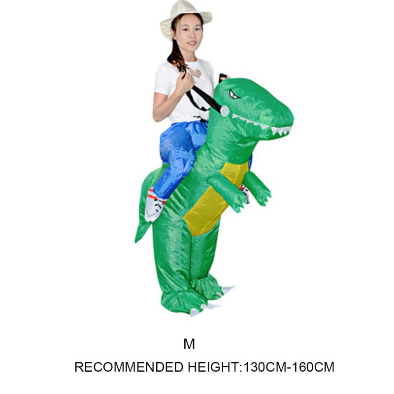 Inflatable Animal Dinosaur Halloween Party Costume Three-dimensional Rideable Dinosaur Mount Dress Y51E