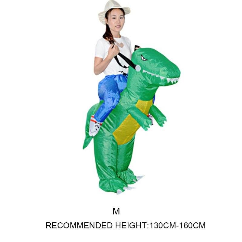 Inflatable Animal Dinosaur Halloween Party Costume Three-dimensional Rideable Dinosaur Mount Dress Y51E